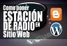 Añadir la radio a su sitio. Como puedo poner una radio en mi web